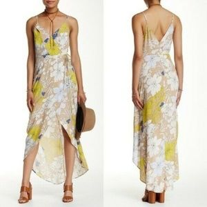 ASTR High-Low Floral Wrap Dress